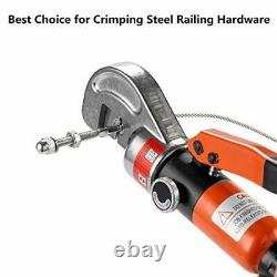 10 Ton Hydraulic Cable Crimper Hand Tool for 1/8, 3/16 Stainless Steel Cable