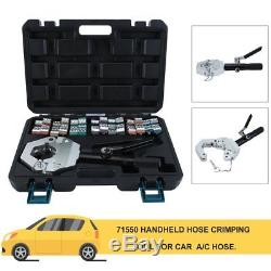 1500 A/C Hydraulic Hose Crimper Tool Kit Hand Tool Crimping Set Hose Fittings WD