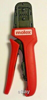 2-Molex 63819-0900 & 63819-0800 Hand Crimp Tools Pre-Owned