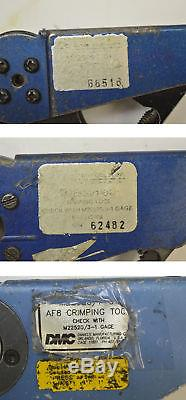 3 Daniels DMC Astro AF8 M22520/1 Crimping Crimper Hand Tool M22520/3 Wire12-26