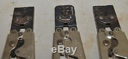 3 Molex two 2445A & 2262A crimp electrical crimper vintage hand tool lot A4