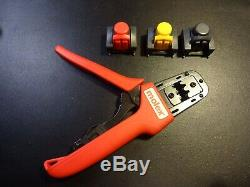 638191100 Molex Tool Hand Crimper 14-20 Awg Side comes with 3 assemblies