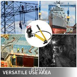 6AWG-1000MCM Hydraulic Wire Terminal Crimper Lug Crimping Tool 18 Ton Hand Pump