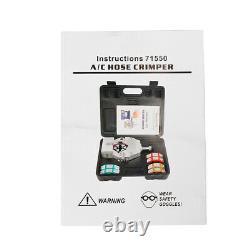 71500 A/C Hose Crimper Kit Air Conditioning Repair Crimping Hand Tools A/C