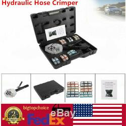 71500 A/C Hydraulic Hose Crimper Tool Kit Hand Tool Crimping Set Hose Acc US
