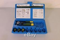(8009) Daniels MH803 Hand Crimping Tool Kit With 3 Positioners