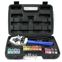 A/C Hydraulic Hose Crimper Tool Kit Hand Tool Crimping Set Hose Fittings