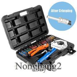 A/C Hydraulic Hose Crimper Tool Kit Hydra-Krimp Hose Fittings Hand Repair Tool