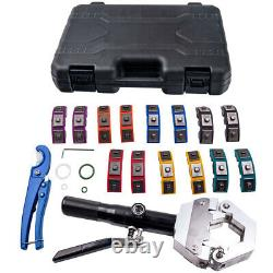 A/C Hydraulic Hose Fittings Crimper Air Conditioning Crimping Hand Tool Die Set