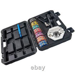A/C Hydraulic Hose Pipe Crimper Air Conditioning Crimping Hand Tools Die Kit