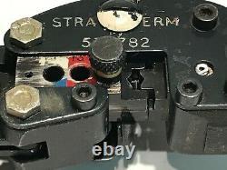 AMP P. I. D. G. 576782 STRATOTHERM HAND CRIMP TOOL 14 BLACK / WHITE GRIPS ad1P46