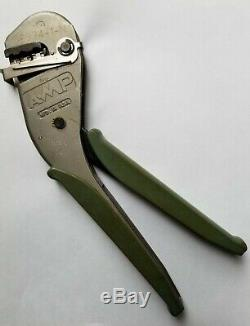 AMP (TE) Faston Tetra Ratchet Hand Crimp Tool P/N 59824-1-N Made in USA, VG cond