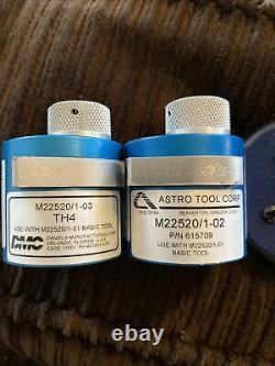 ASTRO TOOL 615717 HAND CRIMP TOOL M22520/2-01 CRIMPING With DMC Turret + Gauge