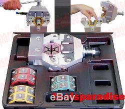 AUTO AC A/C Fuel Hose Line HAND Crimper Crimping Tool Kit #6 #8 #10 #12 DIE