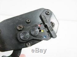 Amp 169400 Certi-lok Hand Tool Crimper & 404 Die Pidg & Plasti-grip Terminals
