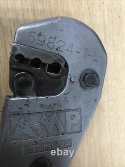 Amp 59824-1 Tetra Pidg Plasti-grip Pidg Faston 22-10 Awg Hand Crimp Tool II