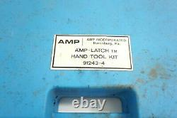 Amp Latch Connector Crimper Hand Tool Kit 91243-4 Complete Set In Case