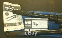 Anderson VC6-2A-D VERSA-CRIMP HYDRAULIC HAND CRIMPING TOOL with Carrying Case