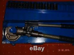 BM 184 hydraulic hand compression crimping tool + 9 dies