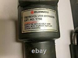 BURNDY Y750 Revolver Hydraulic Hand Operated Tool 12 Ton Crimp Hypress y750