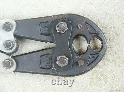 Burndy MD6-8 Hand Operated Terminal Crimping Tool Used