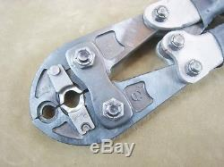 Burndy No. Md6 Crimper Hand Held Crimping Tool W-c C Die Set Made In USA