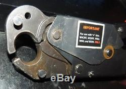 Burndy OUR840 Hytool Hand Ratchet Criimping Crimper Crimp Tool & case no dies