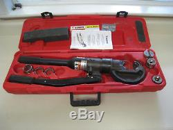 Burndy Y750HSXT Revolver Hydraulic Hand-Operated 12-Ton Crimping Tool with DIES