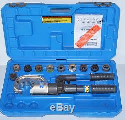 Cembre HT131-LNC 130kN Hydraulic hand crimping tool crimper + Full Set of Dies