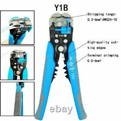 Crimping Pliers Set 8 Jaw Kits Insulation Terminals Electrical Clamps Hand Tools