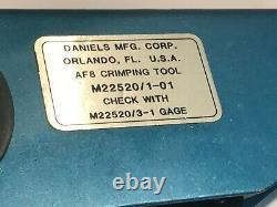 DANIELS DMC AF8 HAND CRIMP TOOL M22520/1-01 PERFECT CONDITION ad1T4