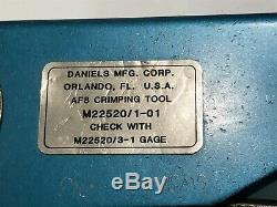 DANIELS DMC AF8 HAND CRIMP TOOL M22520/1-01 ad1p55