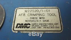 DMC Daniels AF8 M22520/1-01 Hand Crimping Tool
