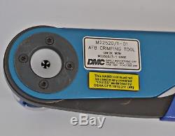 DMC Daniels AF8 M22520/1-01 Hand Crimping Tool with TH254 Turret