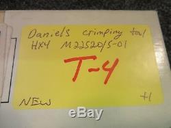 DMC Daniels Crimping Hand Tool Hx4 Precision Ratchet Y501 Die 12-10 26-14 M22520