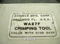 DMC Daniels WA27F Pneumatic Hand Held Crimp Crimping Tool