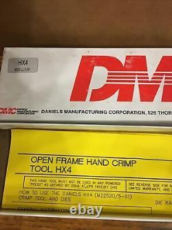 DMC HX4 M22520/5-01 Open Frame Hand Crimp Tool. Daniels-USA CAGE 11851