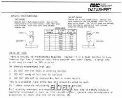 Daniels DMC USA Adjustable Hand Crimp Crimper Crimping Tool M317