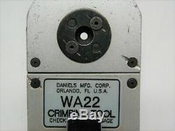Daniels DMC WA22 Crimping Tool Pneumatic Crimper (same as hand AFM8)