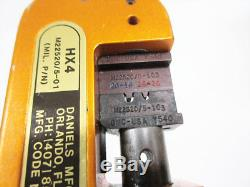 Daniels Hx4 M22520/5-01 With Y540 Die M22520/5-103 Hand Crimping Tool