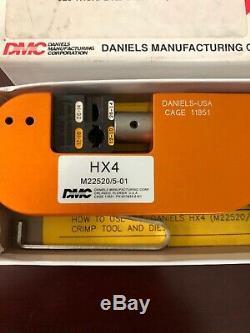 Daniels MFG Corp. DMC HX4 M22520/5-01 Open Frame Hand Crimper/Crimping Tool