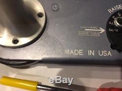Deutsch HDT-48-00 Genuine Hand Crimp Tool, Size 12- 22AWG, MADE IN USA