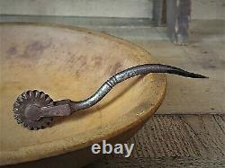 Early American Pastry Jagger Pie Crimper Blacksmith Hand Forged Baking Tool