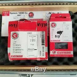 Elpress V1311C Hydraulic 13-Ton Hand Crimping Tool / B18 Dies & Case