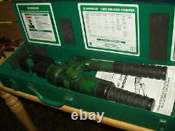 GREENLEE 1989 Manual HYDRAULIC DIELESS CRIMPER Hand Crimping TOOL & BOX