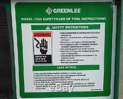 GREENLEE Model #1989 Manual HYDRAULIC DIELESS CRIMPER Hand Crimping TOOL & CASE