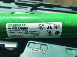 Greenlee HK12ID Hand Hydraulic Dieless Crimping Tool, Compression Crimper
