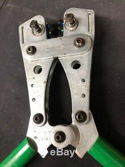 Greenlee K09-2GL Hand Crimper Crimping Tool 8-4/0