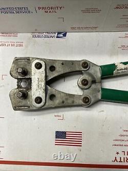 Greenlee K09-2GL Hand Crimper Crimping Tool 8-4/0 ED4U #8205