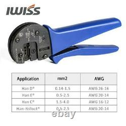 Hand Crimping Tools for 0.14mm2-4.0mm2 (AWG26-12) Harting Han D/E/C Connectors